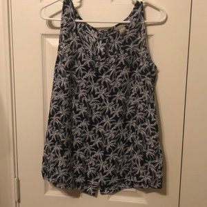 BANANA REPUBLIC palm tree tank with cute buttons!